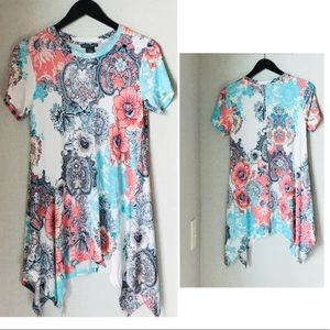 Chelsea and Theodore Floral Popover Tunic